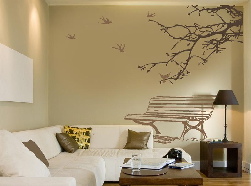Rebecca newport trend alert wall stickers - Wall sticker ideas for living room ...