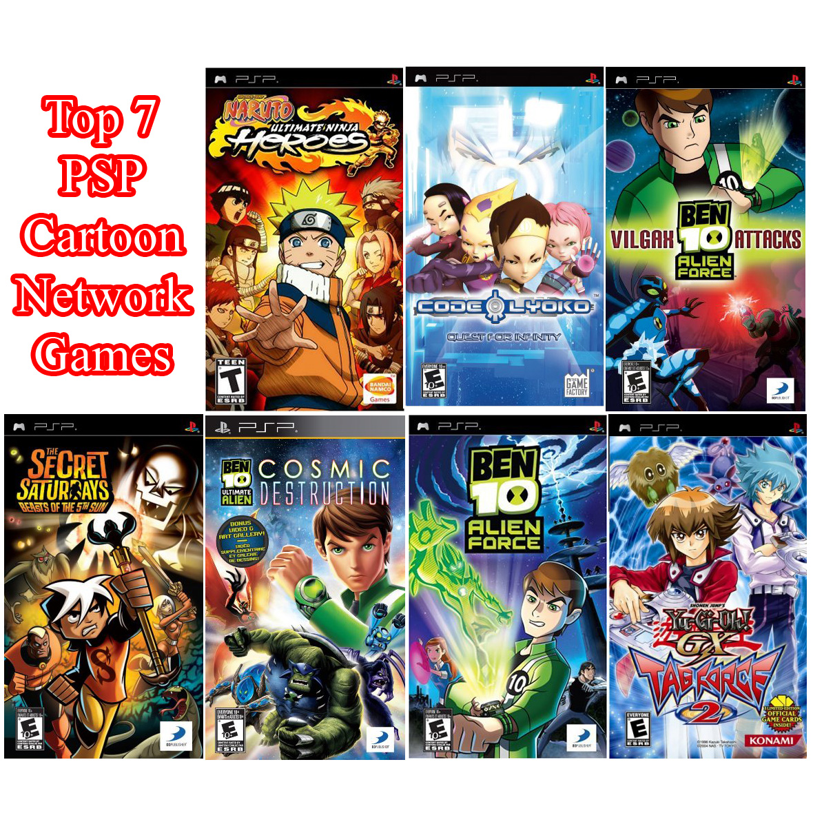 The Best Game Collections: Top 7 PSP Cartoon Network Games