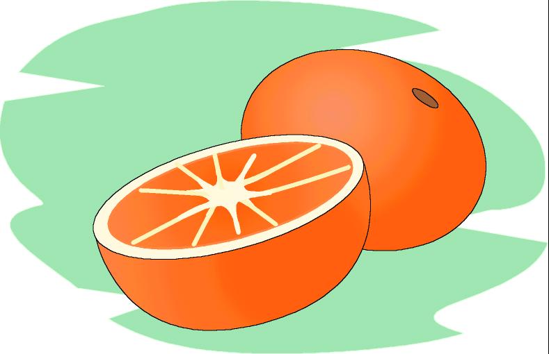 Naranja Animada A Color