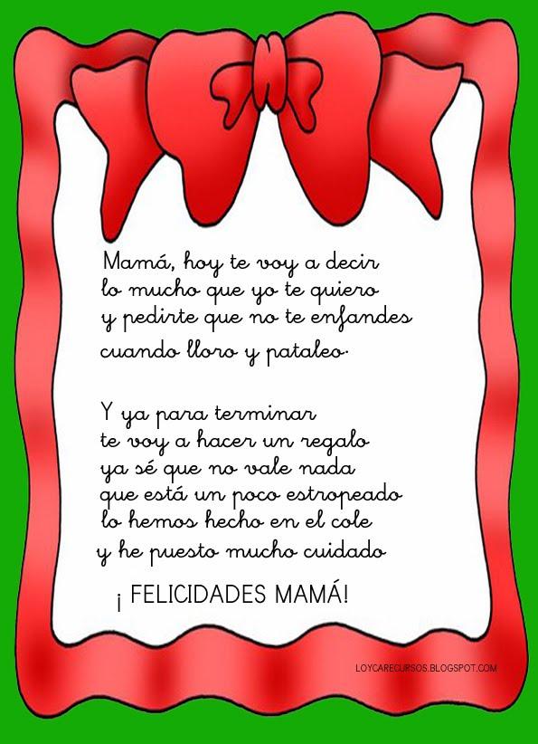 Maestra De Infantil Poemas Para El Día De La Madre