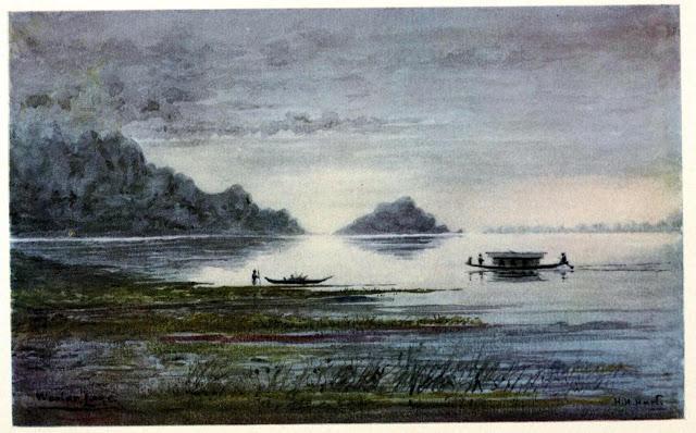 Nightfall on Wular Lake, by Col. H.H. Hart
