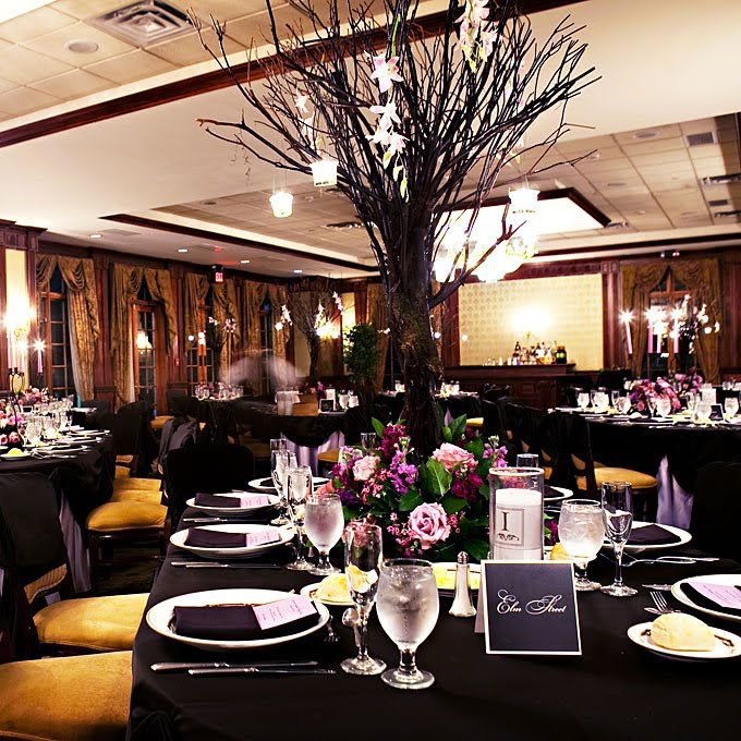 Elegant Wedding Reception Decoration: AART Event Planning: An Elegant Halloween Themed Wedding