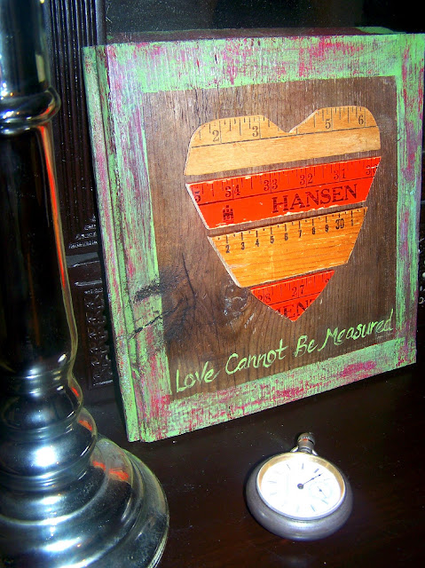 reclaimed wood heart art love http://bec4-beyondthepicketfence.blogspot.com/2011/01/love-cannot-be-measured.html