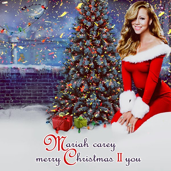 Mariah Carey Christmas Album Cover.Mariah Carey Merry Christmas