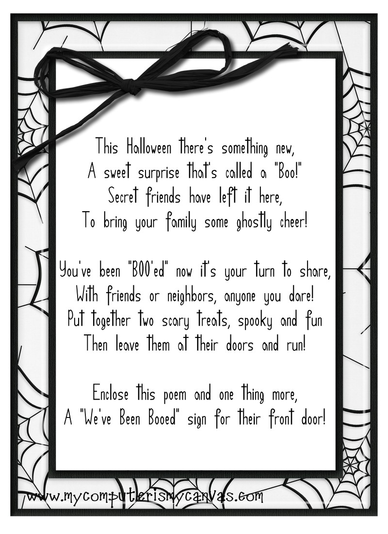 graphic regarding You've Been Booed Printable Pdf named Weve Been \