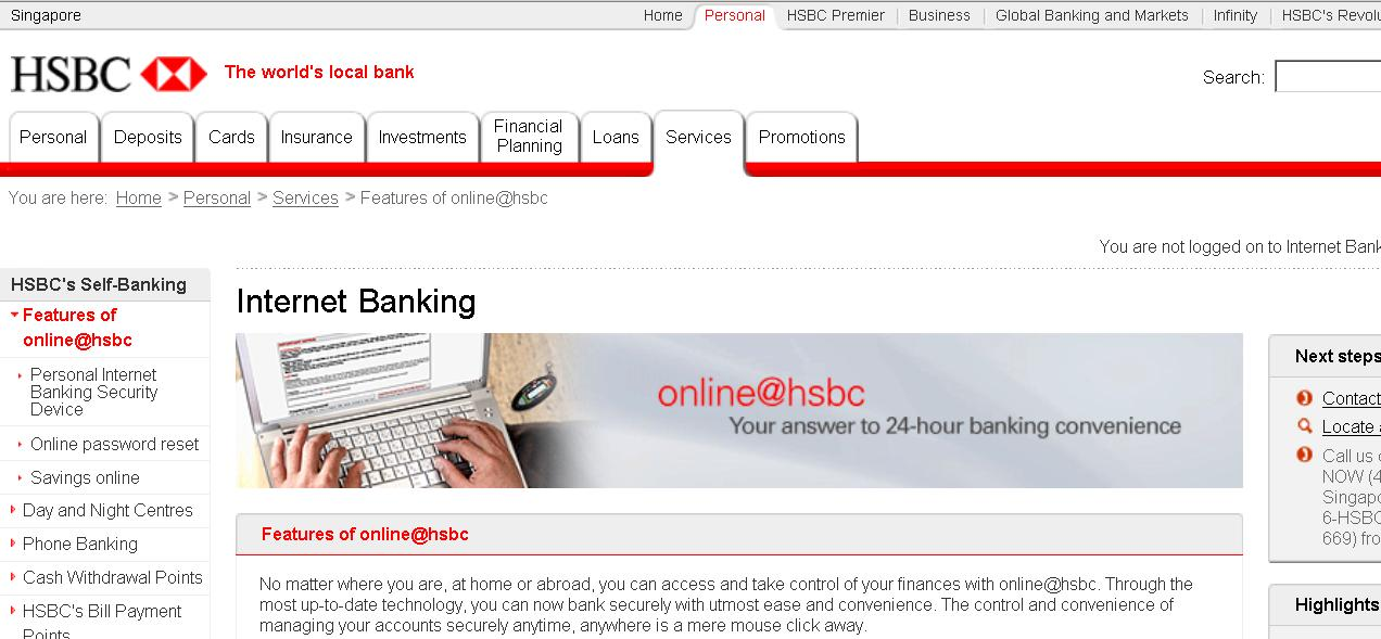 HSBC Singapore Internet Banking Guide - Ready2Beat.com ...