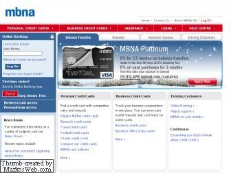 mbna credit card login my account