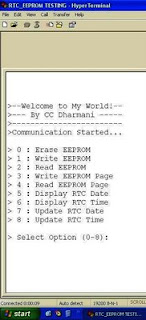 Design with Microcontrollers: Interfacing RTC & serial EEPROM using
