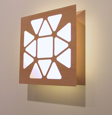 custom wood wall light