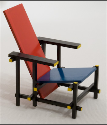miniature reitveld chair by peter tucker