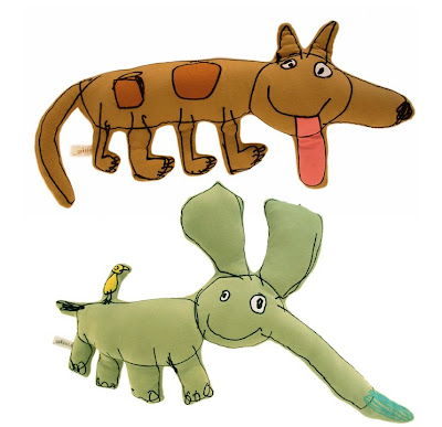 plush toys made from chidlren's drawings