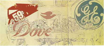Above: Andy Warhol's Last Supper (Dove), 1986