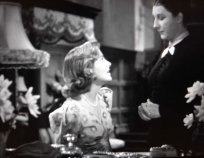 The original still of Joan Fontaine and Judith Anderson in Rebecca. © United Artists.