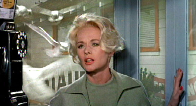 Above: original still of Tippi Hedren from The Birds. © Universal Pictures.