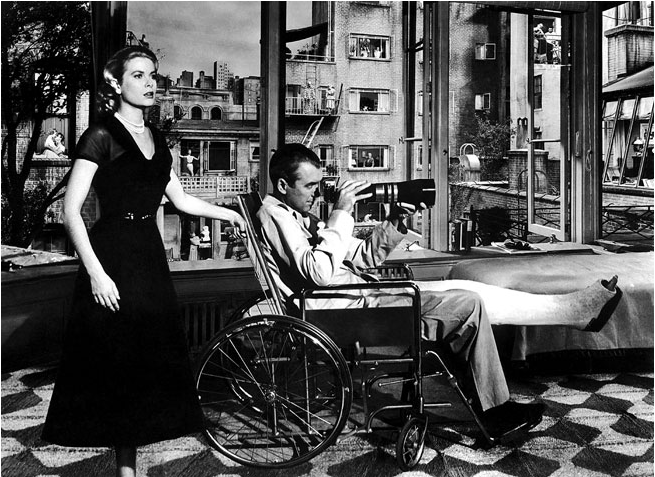The original still of Grace Kelly and James Stewart from Rear Window. Paramount/Neal Peters Collection.