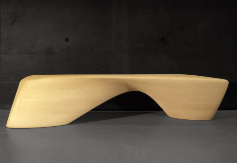 The Ordrupgaard bench by Zaha Hadid
