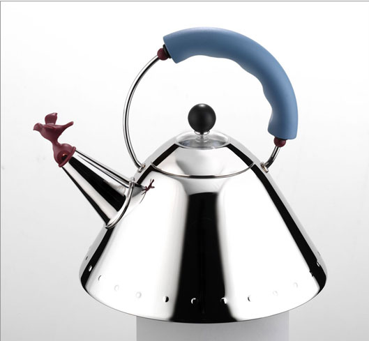 Alessi Signature Kettle with Bird Whistle by Michael Graves, 1985