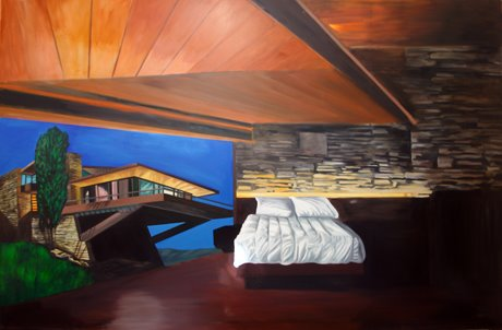 Eamon O'Kane, Lloyd Wright's Dream (painted whilst listening to Nevermind by Nirvana), oil on canvas, 9ft x 12ft, 2008
