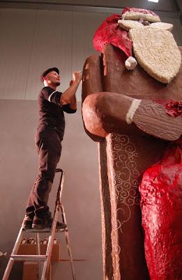 World's Largest Chocolate Santa