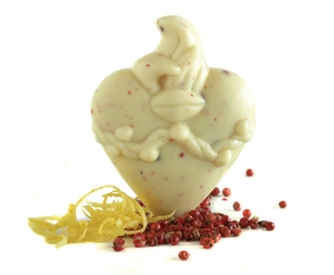 Vosges Flaming Heart Chocolates