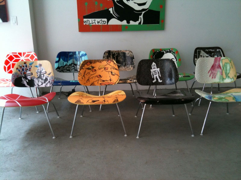 Artist Decorated Eames Chairs For Auction Benefit Operation Design If It S Hip It S Here