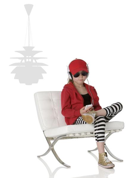 mini barcelona chair for kids