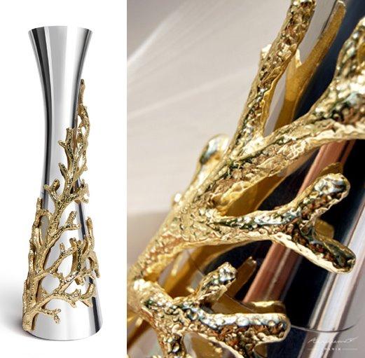 Narghile Coral design (in gold)