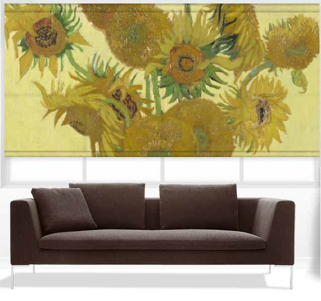 Van Gogh Sunflowers window shade