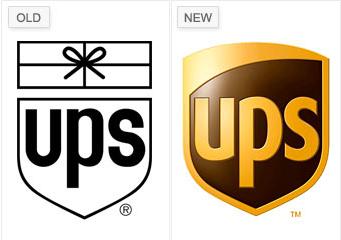 UPS redesigned logo
