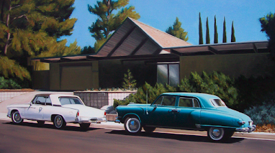 danny heller painting of an Eichler home