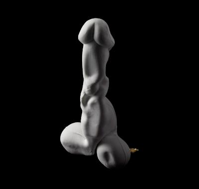 bone china dildo sculpture