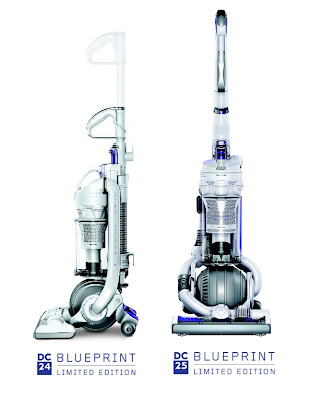 Dysons' all white limited editions of their vacuums