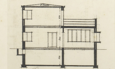 Architectural plans of the original Arne Jacobsen Villa