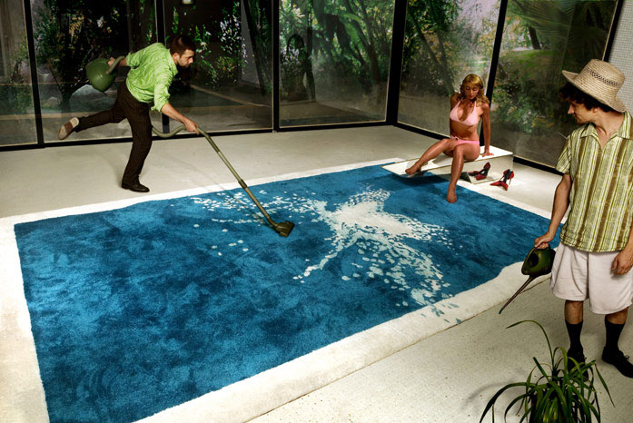 The Grand Splatch Splash Rug Emulates A Swimming Pool And Even Comes With Stainless Steel Diving Board Designed By PUPSAM David Puel Thomas Libe