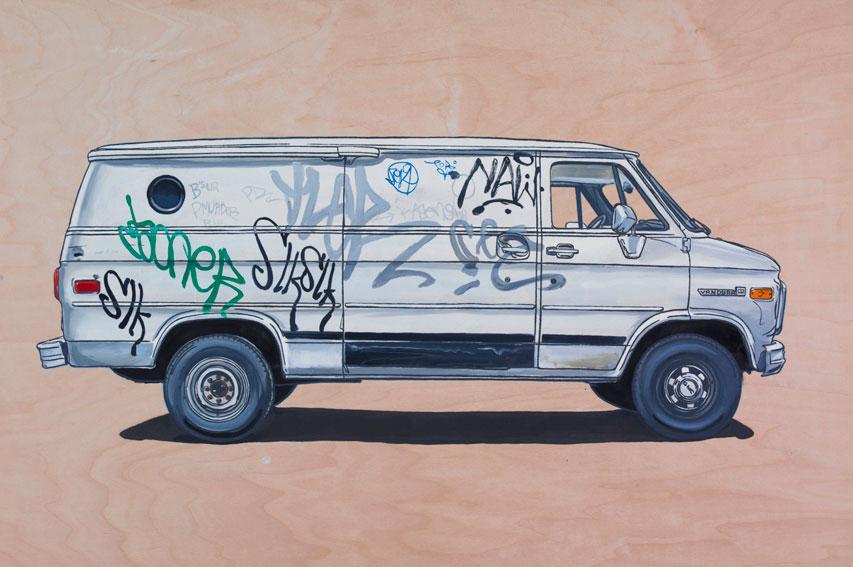 old van paintings by kevin cyr