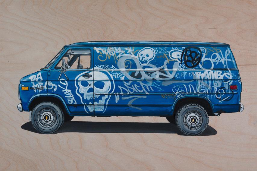 paintings of old vans