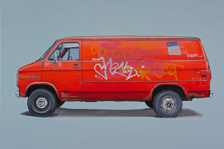 oil paintings of vans