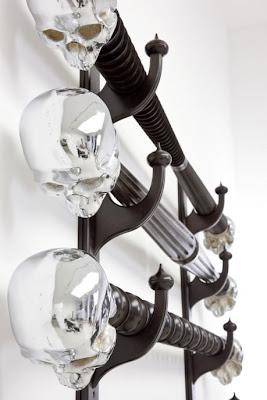 Horizontal Rack (detail), Beech and aluminium