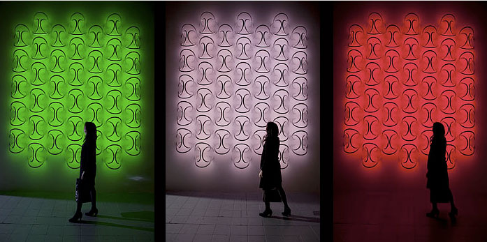 FLOS Soft Architecture lighting displays at the 2010 Salone del Mobile