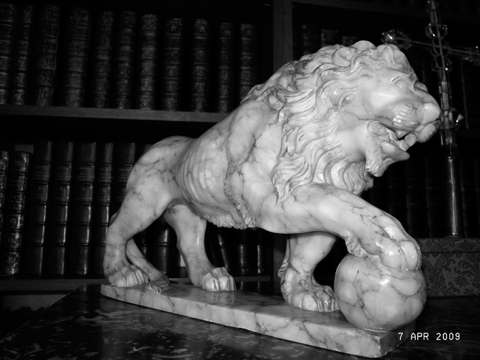 originl marble lion statue