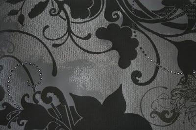 Delirium wallpaper accented with Swarovski Crystals
