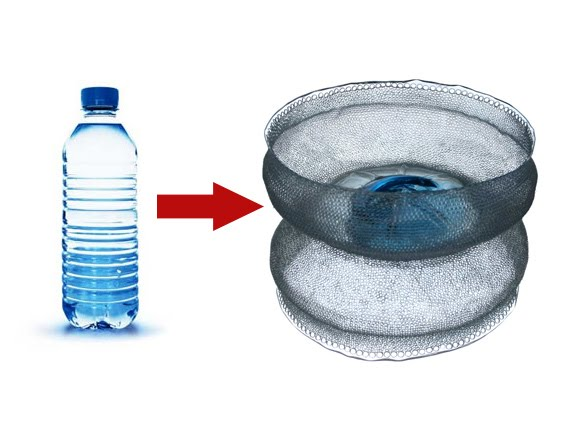 turning plastic water bottle into a bowl