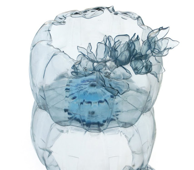 beautiful bowl made from plastic water bottle