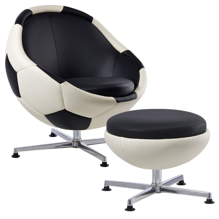 football chair and ottoman