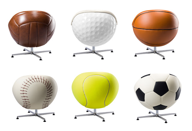 Leather Sports Ball chairs