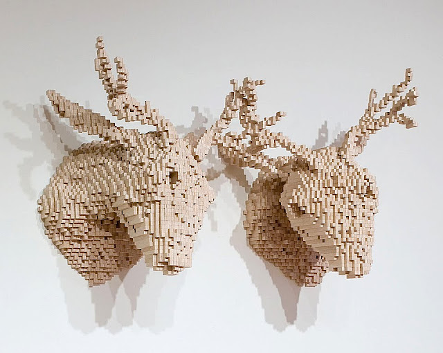 Shawn Smith's Pixelated Sculptures