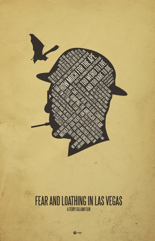 fear and loathing in las vegas typographic poster