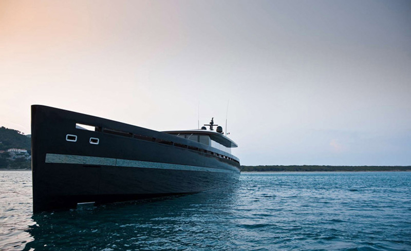 H2ome Yacht Has A Sleek Profile Modern Interiors And A
