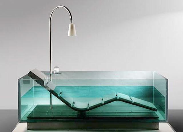 hoesch Noa glass bathtub