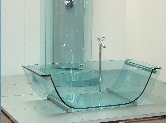 modern glass bathtubs
